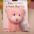 BABY GANZ WRIST RATTLE SOFT PINK PLUSH BEAR NEW BABY TOY
