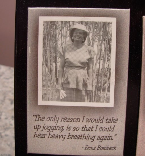 REFRIGERATOR MAGNET QUOTE BY ERMA BOMBECK NEW FUNNY