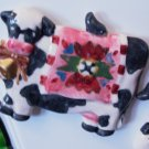 COW REFRIGERATOR MAGNET COUNTRY KITCHEN HOME DECOR CERAMIC NEW GANZ