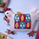 CHICKEN REFRIGERATOR MAGNET COUNTRY KITCHEN HOME DECOR CERAMIC NEW GANZ