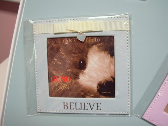 GUND MAGNETIC PHOTO FRAME HOLDER TODAY AND ALWAYS GUND PHOTO HOLDER MAGNET SAYS BELIEVE NEW