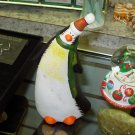 PENQUIN RUSTIC TERRACOTTA HOLIDAY CHRISTMAS HOME DECOR NEW GANZ
