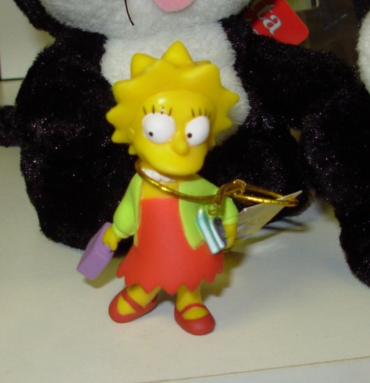 LISA SIMPSON PVC FIGURINE HOMER SIMPSON TV CHARACTER NEW WITH TAGS