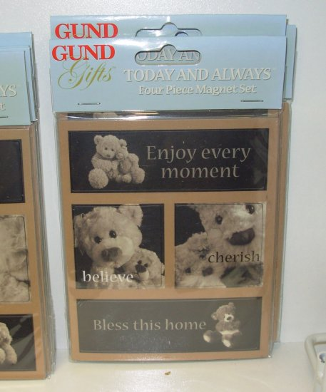 GUND MAGNET 4 PIECE SET GUND GIFTS NEW TODAY AND ALWAYS COLLECTION