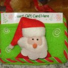 CHRISTMAS GIFT CARD HOLDER FELT SANTA CLAUS NEW HOLIDAY GIFT GIVING GANZ