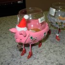 CHRISTMAS PIG VOTIVE HOLDER NEW GANZ CUTE FUNNY HOLIDAY HOME DECOR