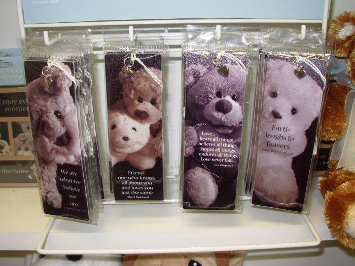 GUND BOOKMARK TODAY AND ALWAYS BOOKMARKS WE ARE WHAT WE BELIEVE NEW TEDDY BEARS AND PUPPIES