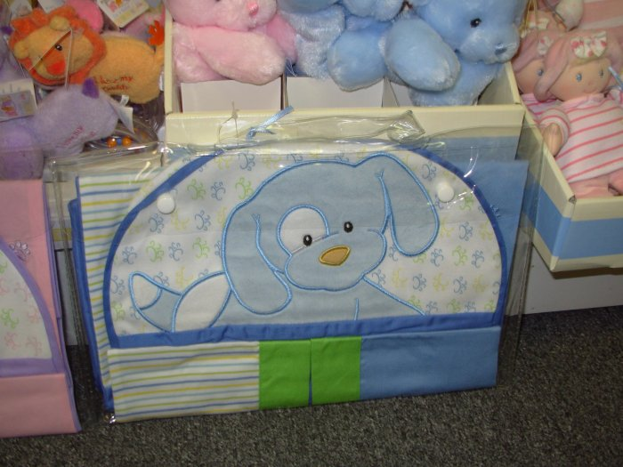 BABY GUND SPUNKY DIAPER STACKER BLUE NEW WITH TAGS NURSERY DECOR BABY GUND