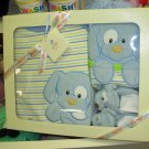 GUND SPUNKY ONSIE BIB SLIPPERS GIFT SET NEW GUND BABY BLUE