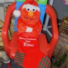 SESAME STREET ELMO SOUND AND MOTION CHRISTMAS STOCKING SINGS JINGLE BELLS NEW WITH TAGS RETIRED GUND