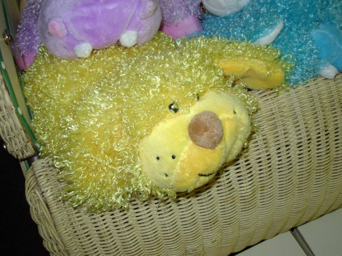 BABY GANZ FLOPIMAL BUTTER YELLOW PUPPY DOG PLUSH STUFFED ANIMAL TOY NEW BABY NURSERY