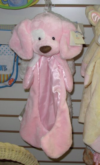 GUND SPUNKY HUGGYBUDDY GIRL PINK BABY GUND PUPPY DOG  MACHINE WASHABLE LOVEY