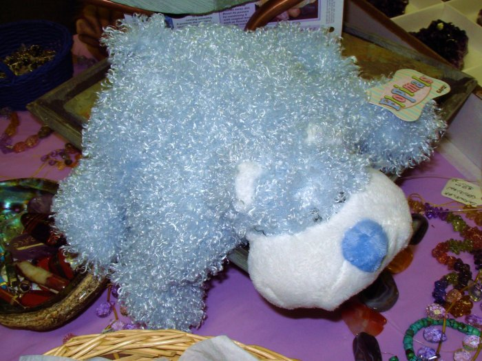 BABY GANZ FLOPIMAL BABY BLUE BEAR PLUSH STUFFED ANIMAL TOY MACHINE WASHABLE NEW BABY NURSERY