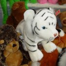 LARGE WHITE TIGER PLUSH STUFFED ANIMAL NEW GANZ JUNGLE CATS