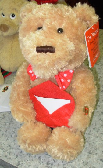I'M YOURS VALENTINES BEAR PLUSH STUFFED ANIMAL SINGS SIGNED, SEALED, DELIVERED I'M YOURS NEW GUND