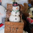 CHRISTMAS ORNAMENT NOSTALGIC TOY BOX SNOWMAN JACK IN THE BOX NEW GANZ
