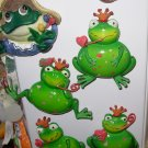 MAGNET FROG PRINCE SMOKING A HEART PIPE VALENTINES DAY GIFT HOME REFRIGERATOR DECOR NEW GANZ