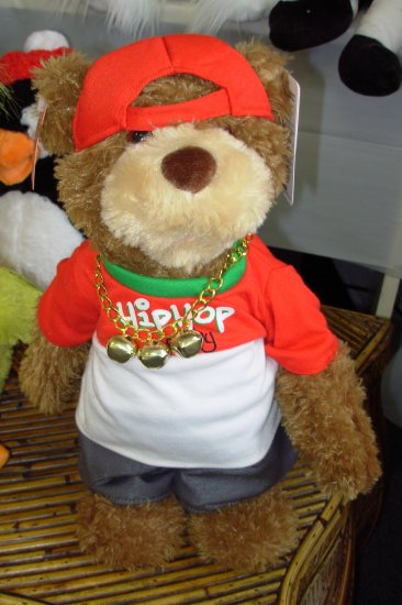 HIP HOP RANDY RAPS JINGLE BELLS PLUSH STUFFED ANIMAL BEAR GUND ANIMATED SOUND TOY CHRISTMAS NEW