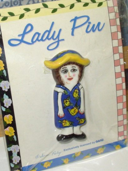 SUSAN PALEY LADY PIN EXCLUSIVELY LICENSED BY GANZ RETIRED RARE