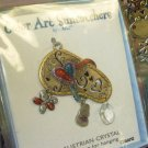 SUNCATCHER FLIP FLOP PEWTER ENAMELED COLOR ART BY GANZ NEW