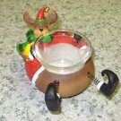 CHRISTMAS TEALITE HOLDER MOOSE IN SANTA SUIT NEW GANZ HOME DECOR CANDLE HOLDER