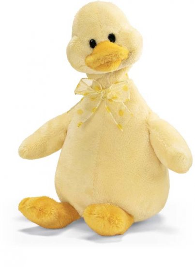 FLAPPY JR. LITTLE YELLOW DUCK PLUSH STUFFED ANIMAL RETIRED GUND NEW THINK EASTER BASKET