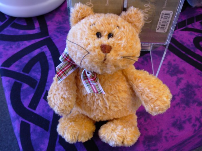 RETIRED GUND CAT REGGY YELLOW TABBY KITTY CAT PLUSH STUFFED ANIMAL NEW WITH ORIGINAL TAGS