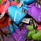 PUFFY HEART ZIP CLIP KEY CLIP WITH THE LETTER D TURQUOISE NEW GANZ
