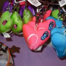 PUFFY HEART ZIP CLIP KEY CLIP WITH THE LETTER O HOT PINK NEW GANZ