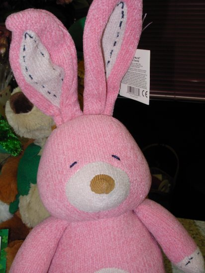 PINK BUNNY RABBIT STUFFED ANIMAL NEW GUND COLOR MY WORLD COLLECTION EASTER PLUSH RETIRED PLUSH