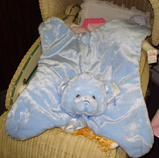 GUND COMFY COZY MY FIRST TEDDY SOFT PLUSH BLUE BEAR  BABY BLANKET NEW WITH ORIGINAL TAGS