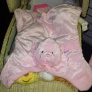GUND MY FIRST TEDDY COMFY COZY PINK BEAR PLUSH BABY BLANKET NEW WITH ORIGINAL TAGS
