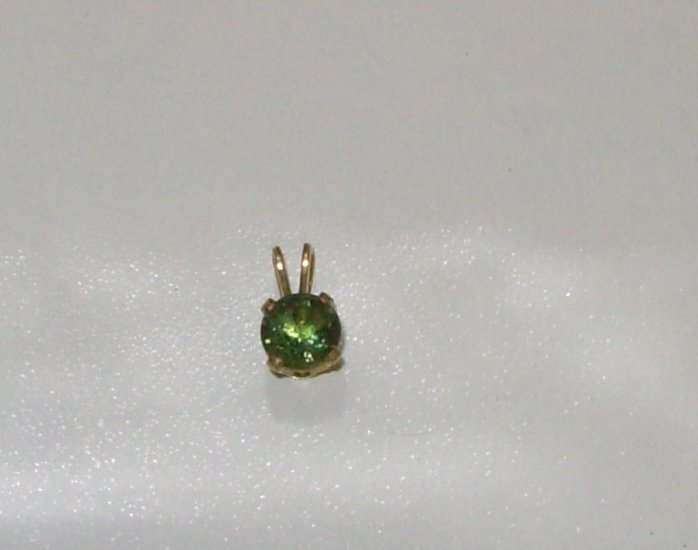 MOLDAVITE PENDANT POLISHED AND CUT 6MM ROUND NEW HANDCRAFTED