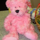 PINK BEAR PLUSH STUFFED ANIMAL BLOSSOM NEW GANZ TOY BEAR