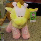 BABY RATTLE PLUSH STUFFED ANIMAL TOY DOTTY GIRAFFE NEW GANZ MACHINE WASHABLE