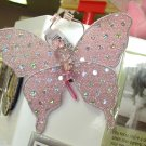 MAGNET PINK BUTTERFLY SEQUINS CRYSTALS AND BEADS ON NET NEW GANZ HOME DECOR KITCHEN DECOR