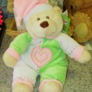 BABY GANZ BEDTIME BEAR IN PINK NEW WITH ORIGINAL TAGS MACHINE WASHABLE