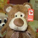 BOSWELL BROWN BEAR PLUSH STUFFED ANIMAL NEW GANZ TOY BEAR