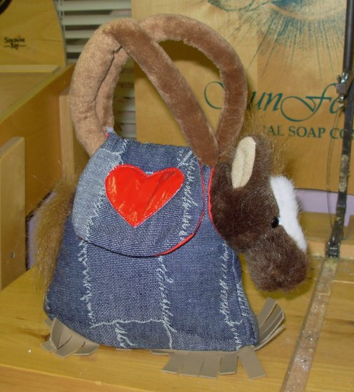 HORSE STUFFED PLUSH ANIMAL LOVE TO GO JESSIE  IN CARRYING PURSE NEW GANZ
