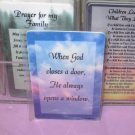 WHEN GOD CLOSES A DOOR  INSPIRATIONAL POCKET CARDS NEW GANZ WONDERFUL GIFT ITEMS