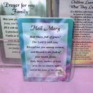 HAIL MARY INSPIRATIONAL POCKET CARDS NEW GANZ WONDERFUL GIFT ITEMS