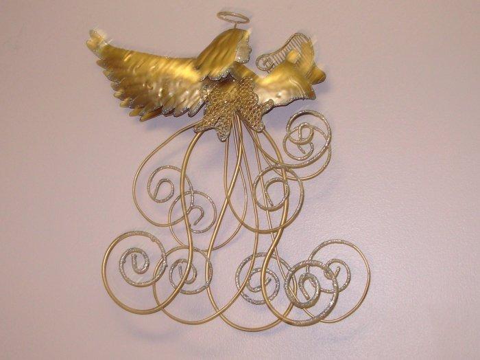 GOLDEN ANGEL CARD HOLDER CHRISTMAS HOLIDAY HOME DECOR NEW GANZ