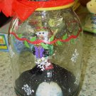 WIGGLE JAR VOTIVE HOLDER SKATING SNOWMAN IN MASON JAR CHRISTMAS HOLIDAY DECOR NEW GANZ