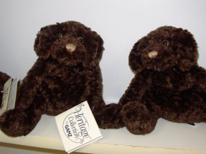 CHOCOLATE LAB PLUSH STUFFED ANIMAL HERITAGE COLLECTION RETIRED GANZ NEW WITH TAGS CHARLIE