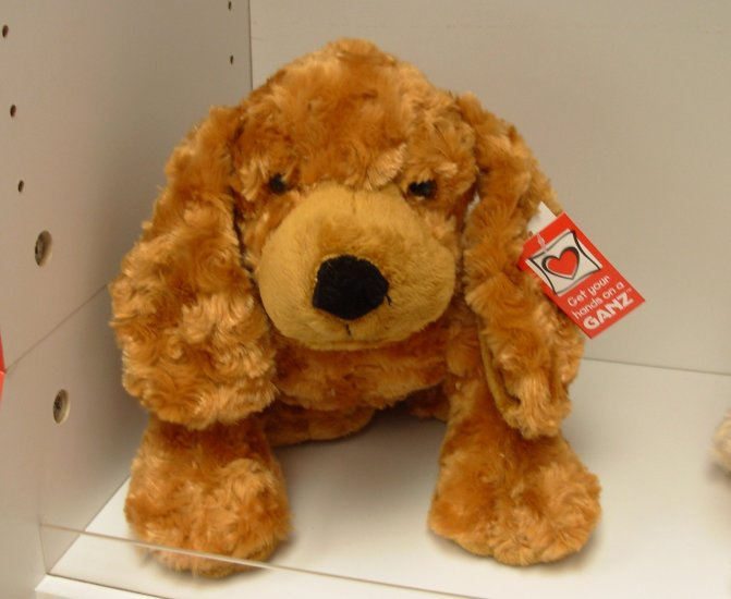 COCKERSPANIEL PLUSH PUPPY DOG NAMED MITZY GANZ STUFFED ANIMAL NEW GOLDEN  COLORED