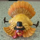TURKEY FIGURINE FALLEN AND CANT GET UP POLYSTONE THANKSGIVING AUTUMN HOME DECOR NEW GANZ