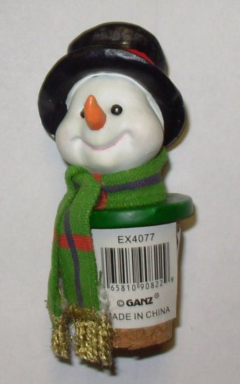 Wine bottle cork replacement snowman resin and cork new for Wine cork replacement