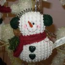 SNOWMAN CHRISTMAS ORNAMENT IN EARMUFFS NEW GANZ HOLIDAY TREE HOME DECOR