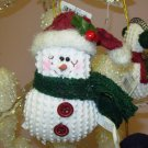 SNOWMAN CHRISTMAS ORNAMENT CHENILLE LOOK NEW GANZ HOLIDAY TREE HOME DECOR