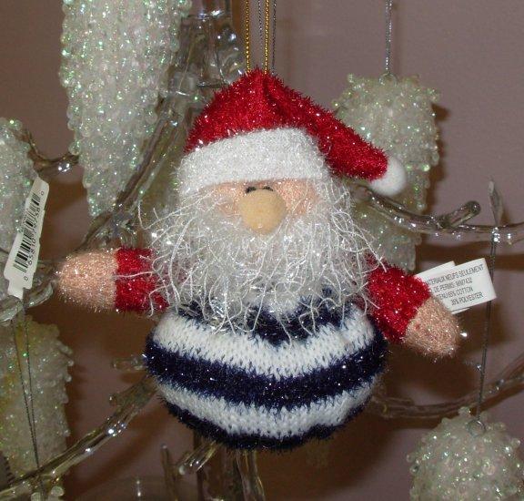 SANTA CHRISTMAS ORNAMENT BEANIE BOTTOM SPARKLY NEW GANZ HOLIDAY TREE HOME DECOR